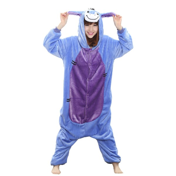 Eeyore Donkey Onesie for Adult Animal Kigurumi Pajama Party Costumes
