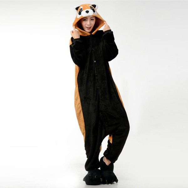 Red Panda Onesie for Adult Animal Kigurumi Pajama Party Costumes
