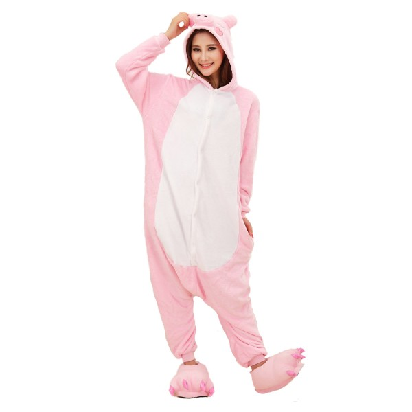Pink Pig Onesie for Adult Animal Kigurumi Pajama Party Costumes