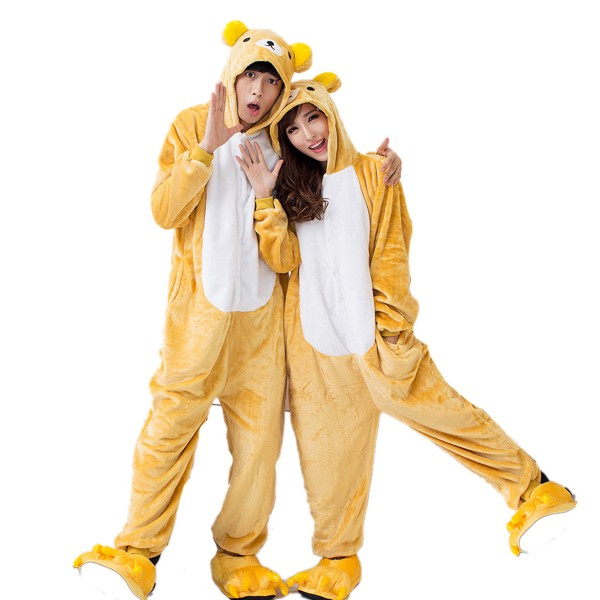 Rilakkuma Onesie Unisex Women & Men Animal Kigurumi Pajama Party Costumes