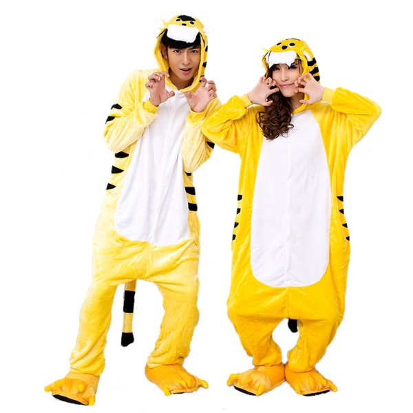 Tiger Onesie Unisex Women & Men Animal Kigurumi Pajama Party Costumes