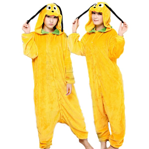 Pluto Onesie Unisex Women & Men Animal Kigurumi Pajama Disney Halloween Costumes