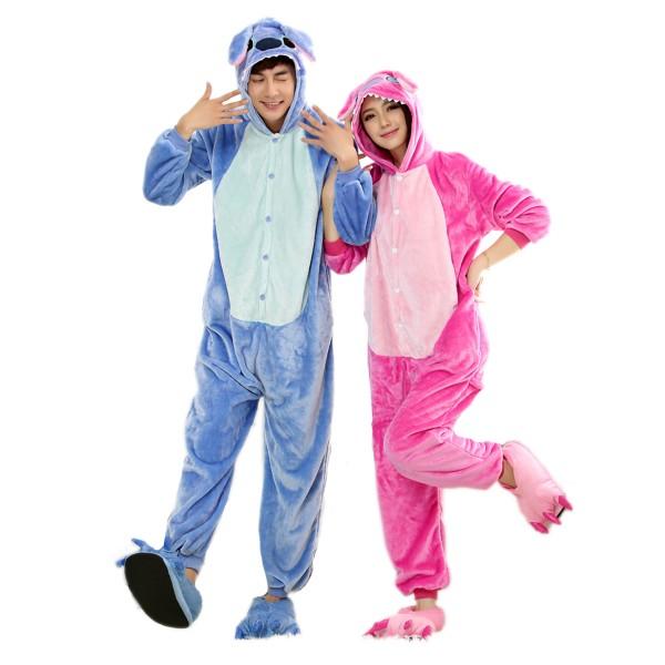 Stitch and Angel Onesie for Adult Kigurumi Pajama Disney Lilo & Stitch Party Costumes