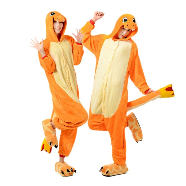 Charmander Onesie for Adult Animal Pajamas Kigurumi Pokemon Cosplay Party Costumes