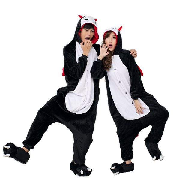 Demon Onesie Unisex Women & Men Kigurumi Pajamas Halloween Cosplay Party Costumes