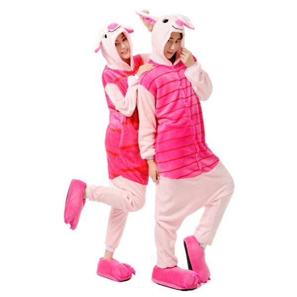 Winnie the Pooh Piglet Onesie for Adult Disney Kigurumi Pajamas Party Costumes
