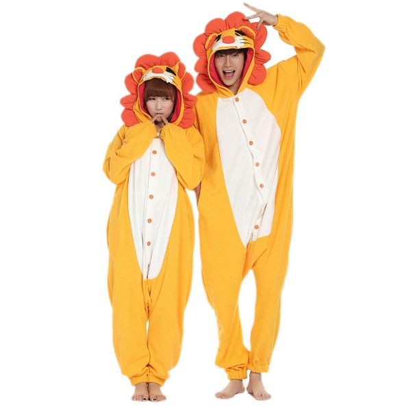 Lion Onesie Unisex Women & Men Animal Kigurumi Pajama Party Costumes