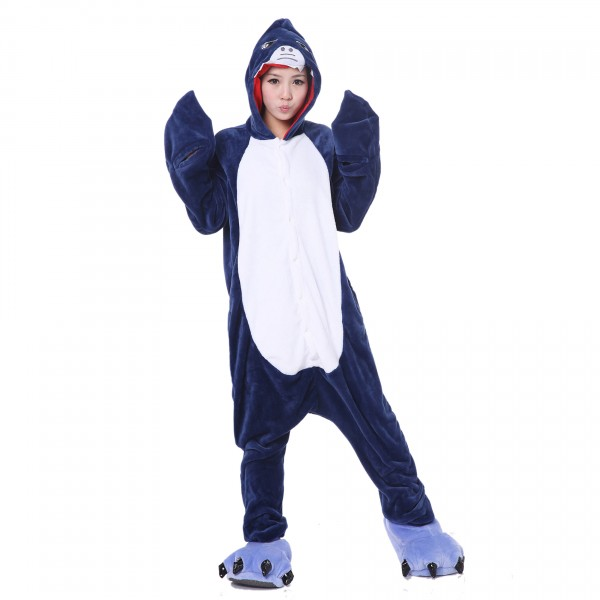 Shark Onesie Unisex Women & Men Animal Kigurumi Pajama Party Costumes
