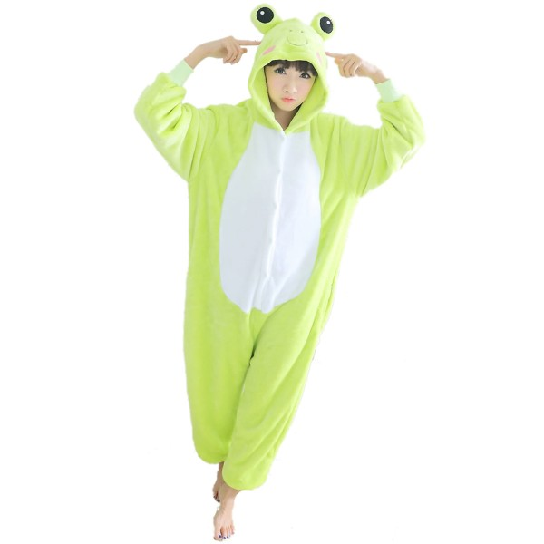 Frog Onesie Unisex Women & Men Animal Kigurumi Pajama Party Costumes