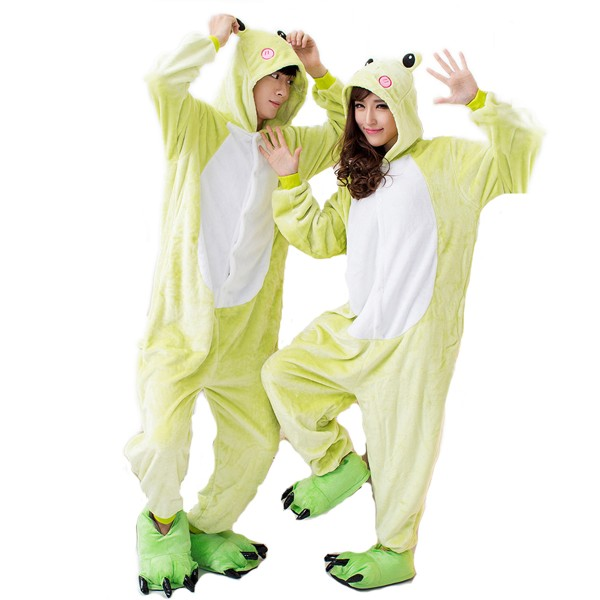 Frog Onesie Unisex Women & Men Animal Kigurumi Pajama Halloween Party Costumes