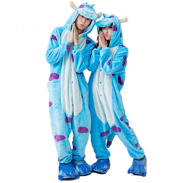 Sullivan Onesie Unisex Women &Men Animal Kigurumi Pajama Halloween Party Costumes