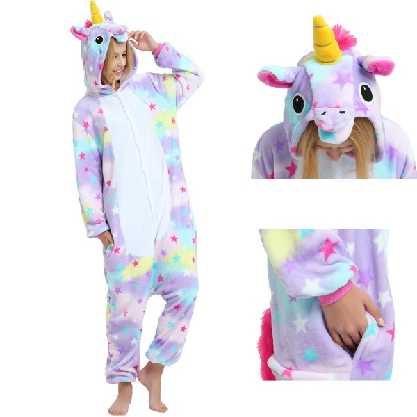 Dreamin Unicorn Onesie Unisex Women & Men Animal Pajamas Kigurumi Halloween Costumes