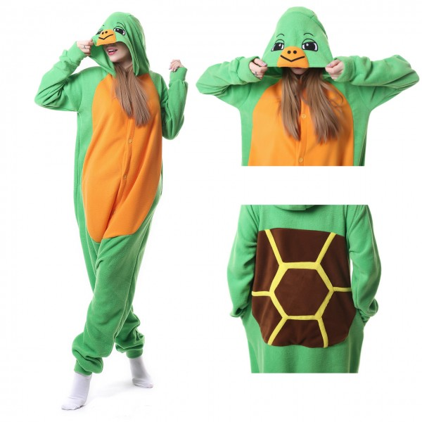 Tortoise Onesie Kigurumi Animal Pajama for Adult Party Costumes