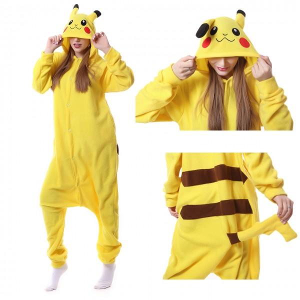 Pikachu Onesie Unisex Women & Men Kigurumi Pajama Pokemon Costumes