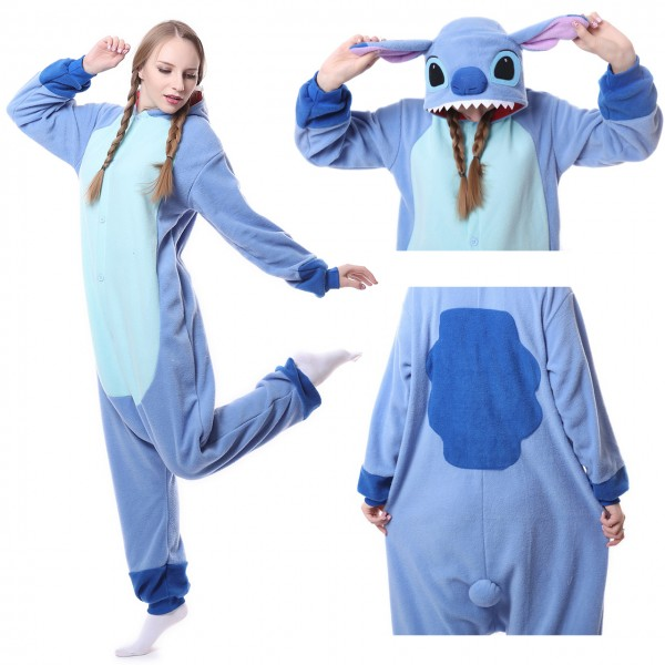 Disney Stitch Onesie for Adult Kigurumi Pajama Lilo & Stitch Costumes