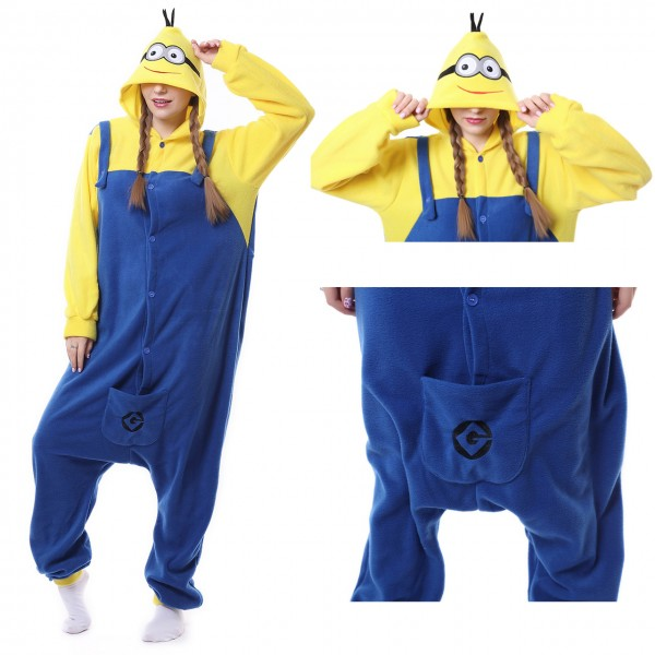 Minions Onesie Women & Men Kigurumi Pajama Halloween Despicable Me Costumes