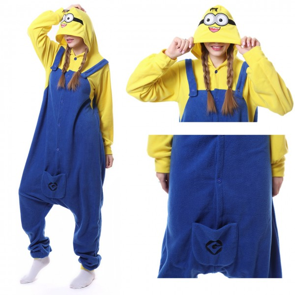 Minions Onesie for Adult Kigurumi Pajama Halloween Party Costumes