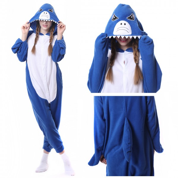 Shark Onesie Animal Kigurumi Pajama for Adult Halloween Partu Costumes