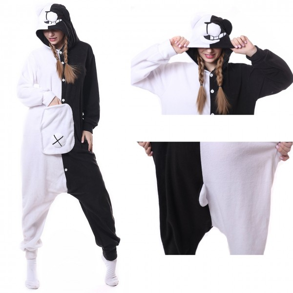 Danganronpa Monokuma Onesie Kigurumi Animal Pajama for Adult Halloween Costume
