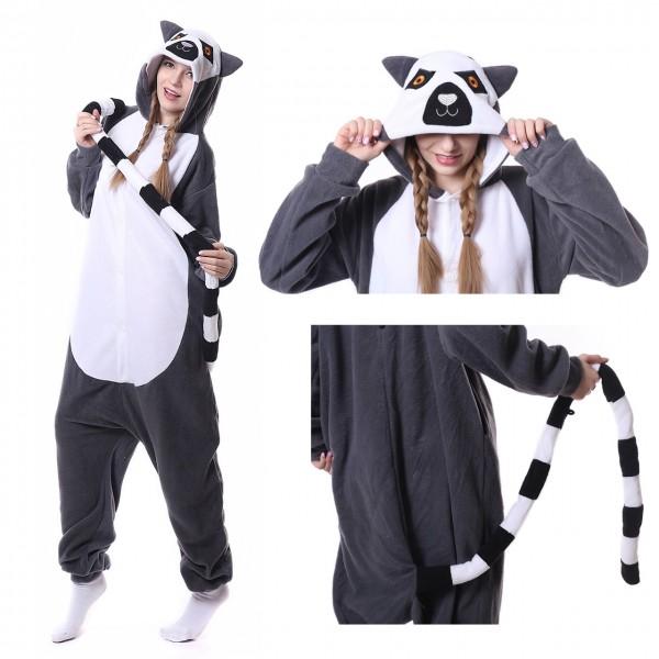 Lemur Onesie Kigurumi Animal Onesies Women & Men Halloween Costumes