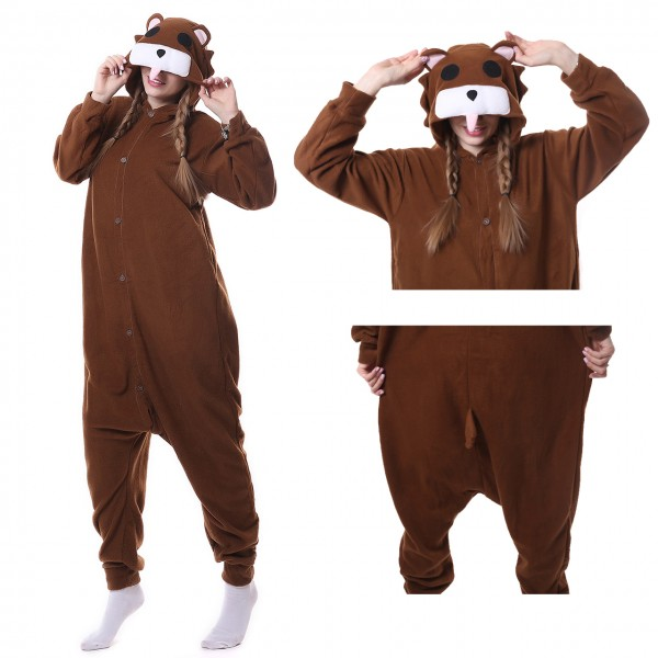 Brown Bear Onesie Animal Kigurumi Pajama Women & Men Halloween Carnival Costumes