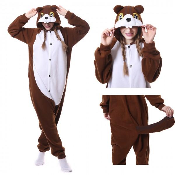 Chipmunks Onesie Animal Kigurumi Pajama Women & Men Halloween Costumes