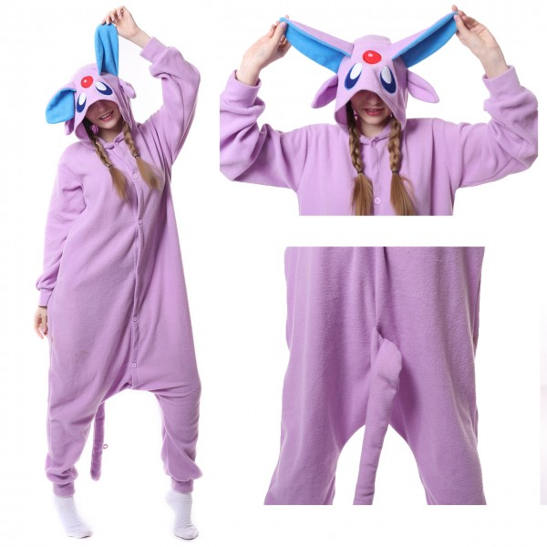 Espeon Onesie Unisex Women & Men Kigurumi Pajama Pokemon Party Costumes