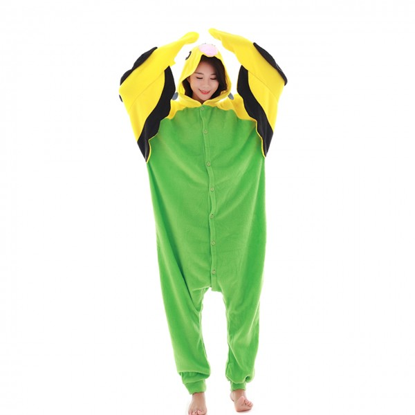Green Budgie Onesie Animal Kigurumi Pajama for Adult Party Carnival