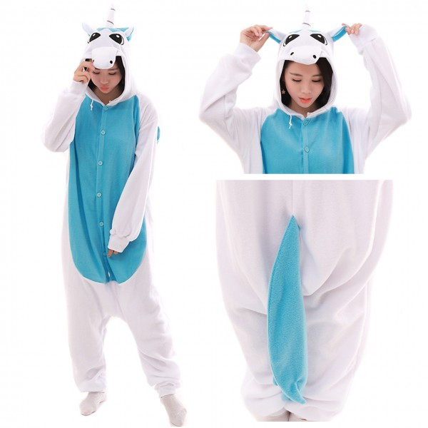 Blue Pegasus Onesie Animal Kigurumi Pajama Women & Men Halloween Costumes