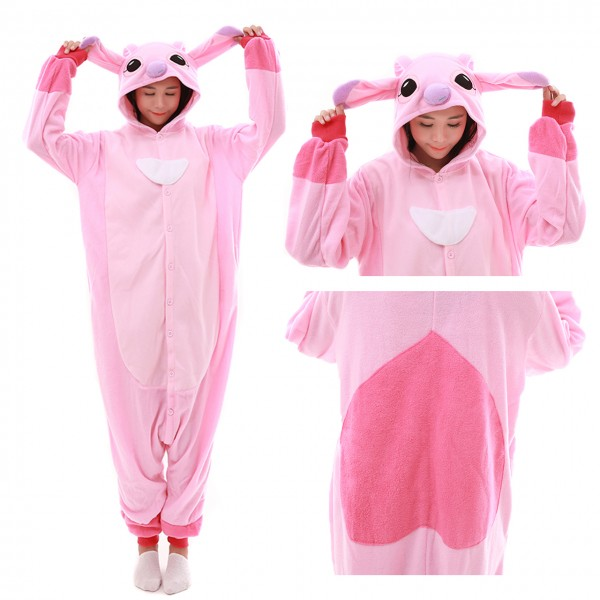 Angel Stitch Onesie for Adult Kigurumi Pajama Disney Lilo & Stitch Costumes