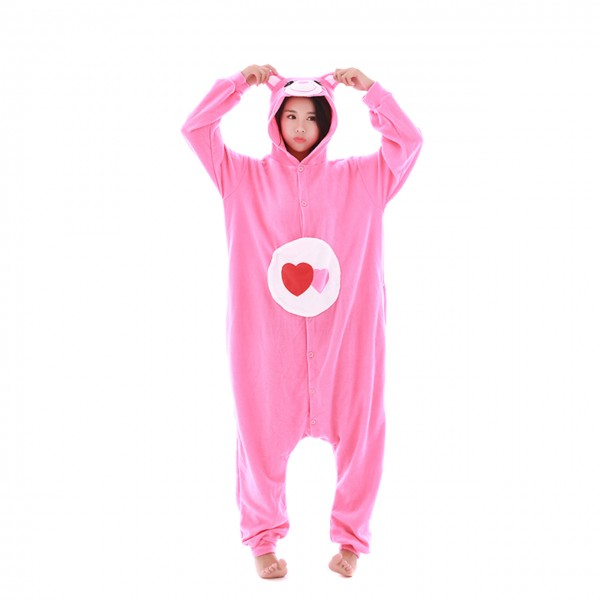 Love Bear Onesie Unisex Women & Men Kigurumi Animal Pajama Party Costumes