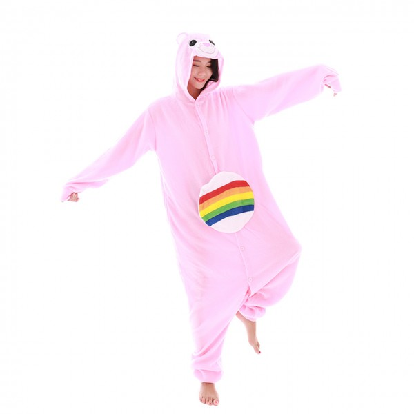 Rainbow Bear Onesie Unisex Women & Men Kigurumi Animal Pajama Party Costumes