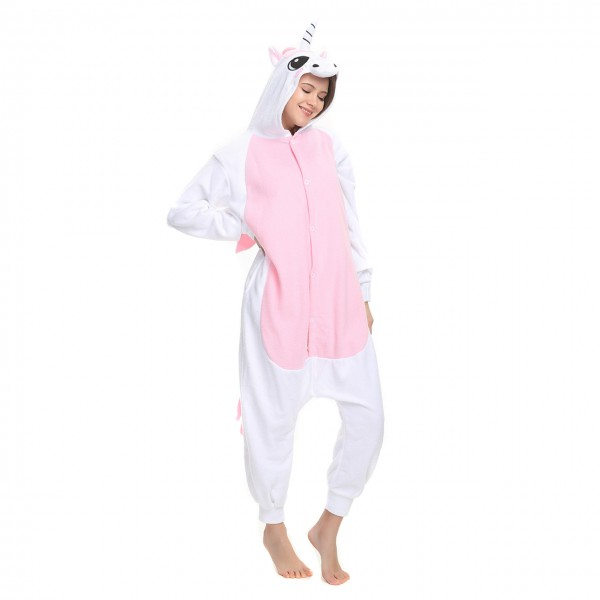 Pink Pegasus Onesie Onesie Animal Kigurumi Pajama Women & Men Halloween Costumes