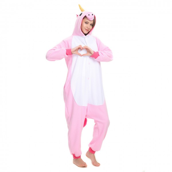 Pink Unicorn Onesie Women & Men Kigurumi Animal Party Costumes