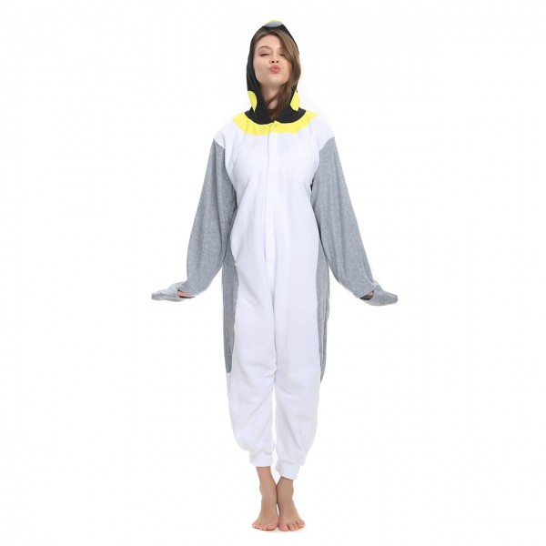 Penguin Onesie Animal Kigurumi Pajama Women & Men Halloween Costumes