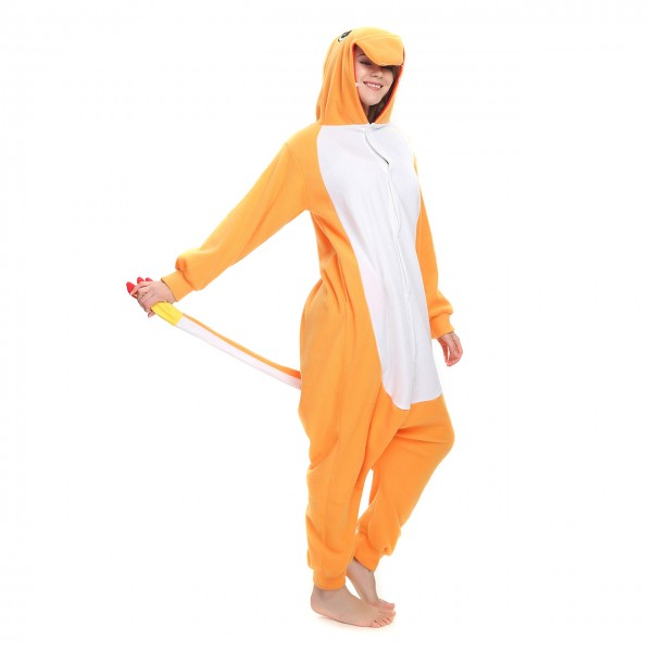 Charmander Pokemon Onesie Kigurumi for Adult Animal Pajama Party Costumes