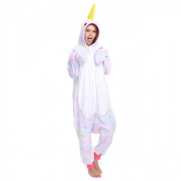 Dreamin Narwhal Onesie Kigurumi for Adult Animal Pajama Party Costumes