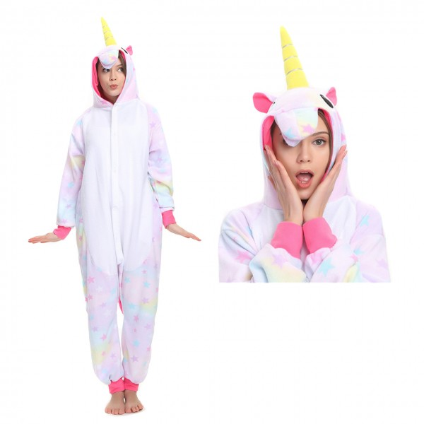 Dreamin Unicorn Women & Men Kigurumi Pajama Animal Party Halloween Costumes