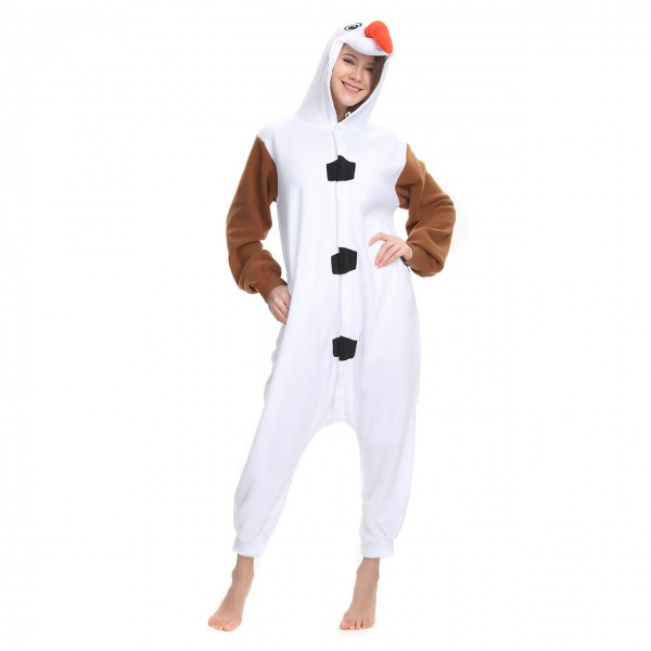 Olaf Frozen Onesie Kigurumi Pajama for Adult Party Halloween Costumes
