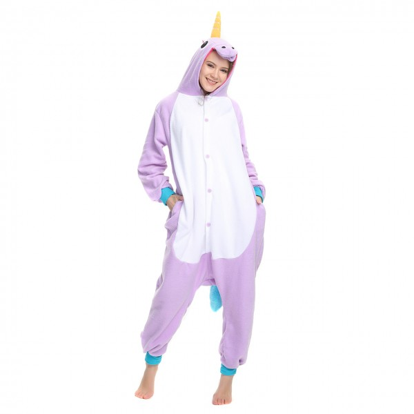 Purple Unicorn Onesie Unisex Women & Men Kigurumi Animal Pajama Party Halloween Costumes