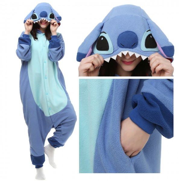 Disney Stitch Onesie Unisex Women & Men Kigurumi Pajama Lilo & Stitch Costumes