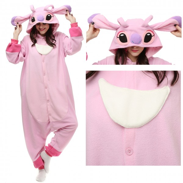 Disney Angel Stitch Onesie Kigurumi Pajamas Party Halloween Costumes
