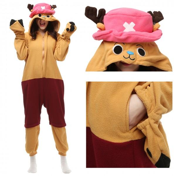 Tony Tony Chopper Onesie Kigurumi Pajama for Adult One Piece Party Costume
