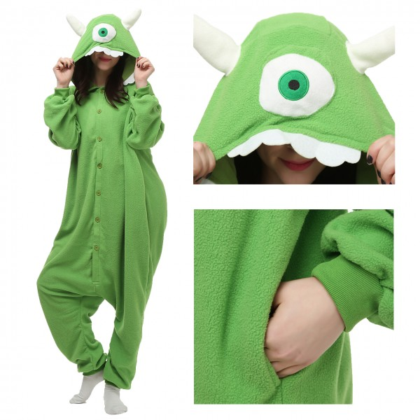 One Eyed Monster Onesie Kigurumi Cartoon Pajama for adult Disney Monsters Inc Costumes
