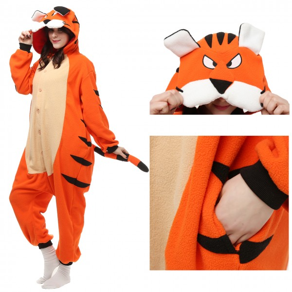 Tiger Onesie Animal Pajama Women & Men Halloween Kigurumi Costumes
