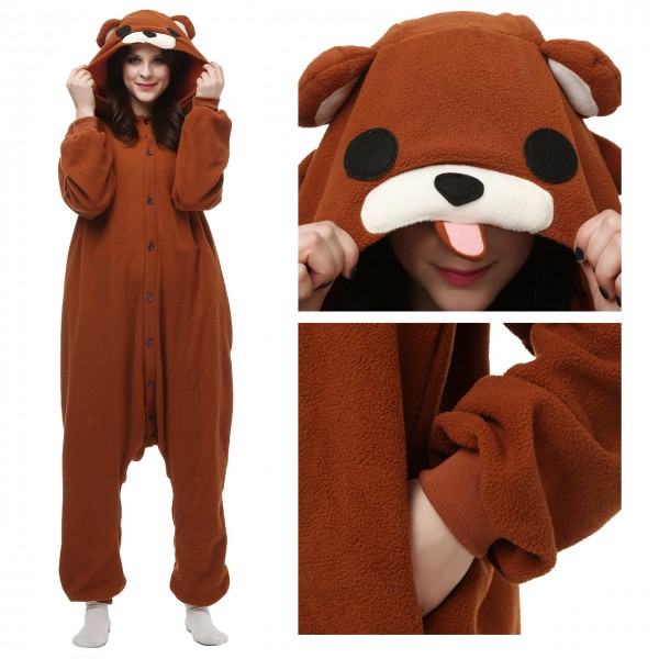 Brown Bear Onesie Animal Kigurumi Pajama for Adult Halloween Carnival Costumes