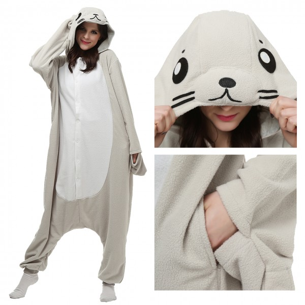 Seal Onesie for Adult Animal Pajamas Kigurumi Party Costumes