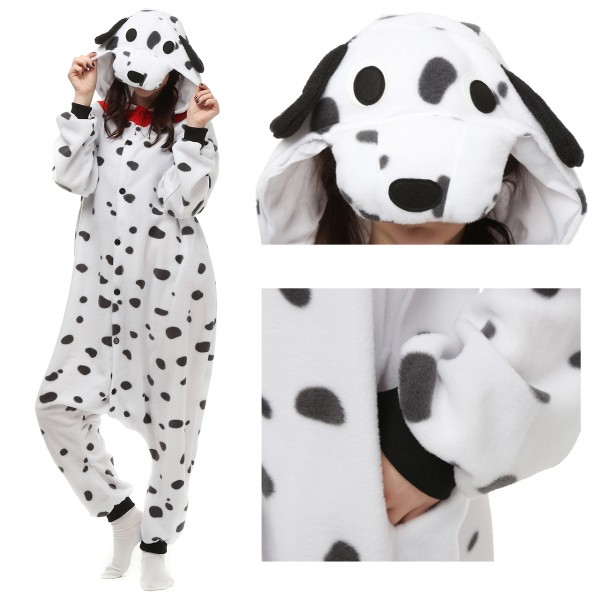 Spotted Dog Onesie Animal Pajamas for Adult Kigurumi Party Costumes