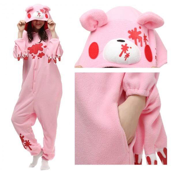 Gloomy Bear Pink Onesie Kigurumi Unisex Women & Men Pajama Kigurumi Halloween Costumes