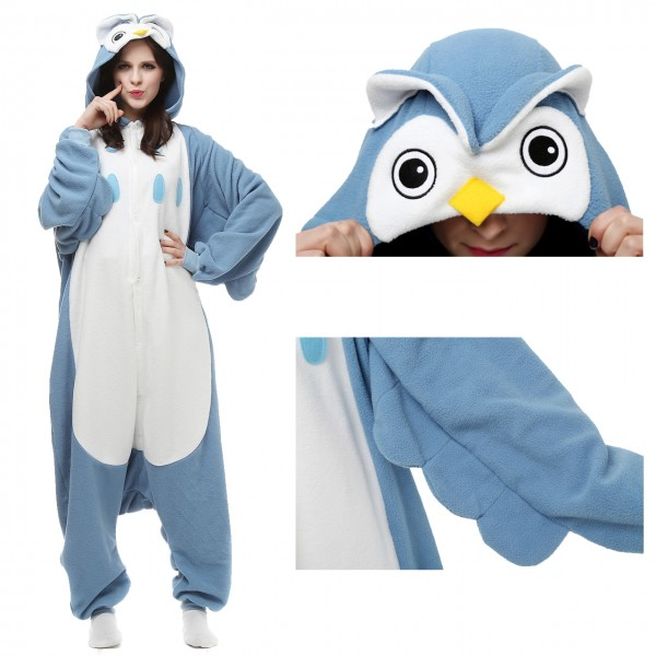 Owl Onesie Animal Kigurumi Pajama for Adult Halloween Costumes